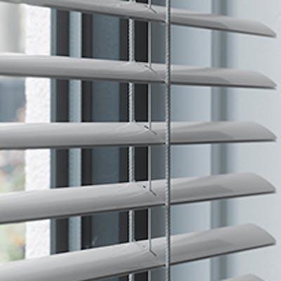 aluminium jaloezie 35mm grijs met ladderkoord